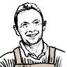 portrait de Laurent Moriniere, gérant des halles et des gourmets, sarl morgat, sarl FLM