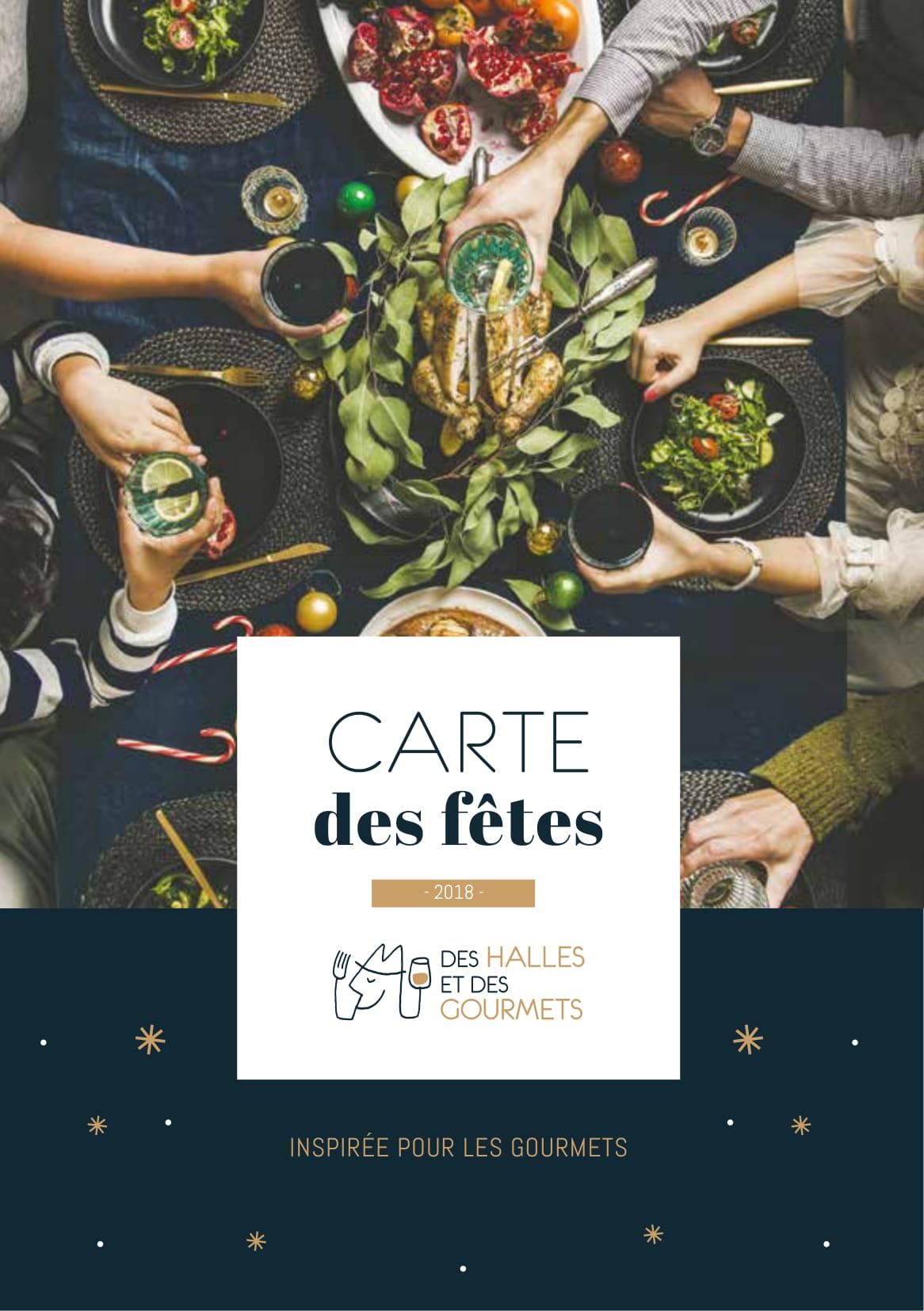 Carte des Fetes 2018 - couv - des halles et des gourmets