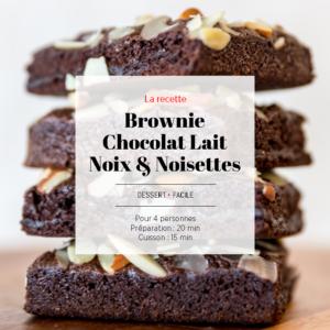 brownie chocolat lait noisettes noix
