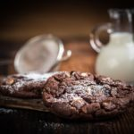cookies et lait, pépites de chocolat