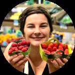 Manuella, Fruits rouges bio, fraises, framboises, fruits bio, primeurs bio angers, fruits et légumes bio angers, des halles et des gourmets, produits d'été, fruits de saison, fruits d'été, été 2020