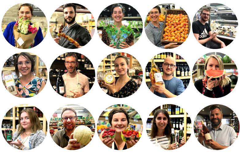 équipe des halles et des gourmets les produits préférés de l'été