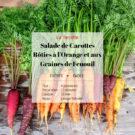 Salade de Carotte, Orange et Graines de Fenouil
