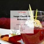 Recette soupe chaude de betterave