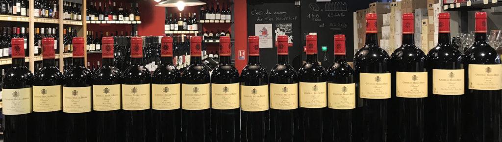 verticale Chateau Belle Brise, Pommerol, Bordeaux, Vin de Bordeaux, Biodynamie, Bordeaux Biodynamie, des halles et des gourmets, angers