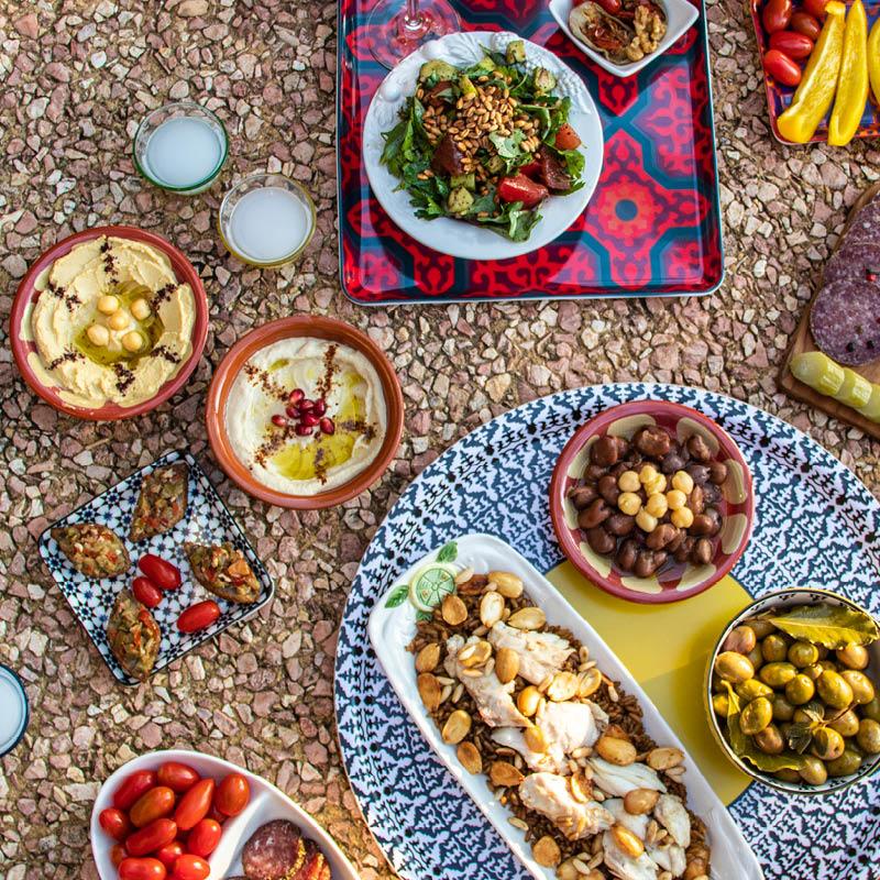 ambiance apéro libanais, terroirs du Liban