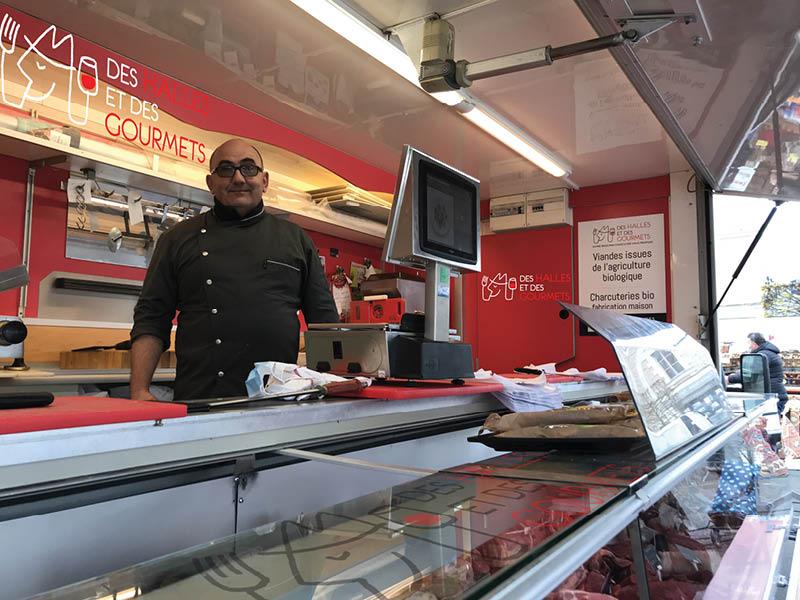 André Baron, Boucherie Charcuterie BIO, marchés Angers