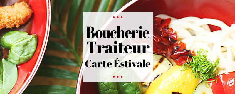 carte traiteur estivale juin 2021 des halles et des gourmets Angers